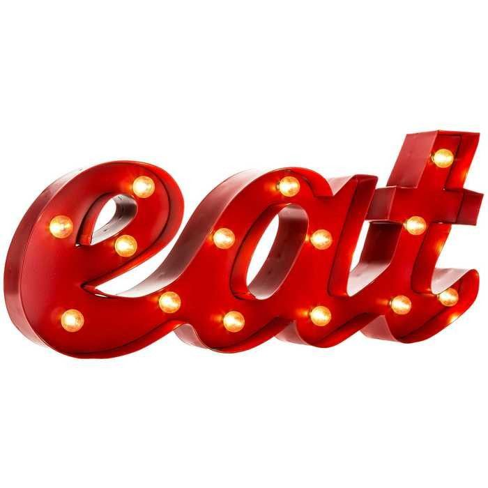 Red Eat Led Marquee Word Hobby Lobby Decor Mirror Wall Decor Home Wall Decor