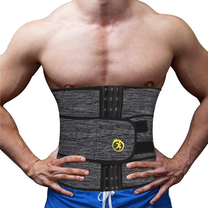 US Abdominal Exercisers Belt Waist Trainer Cincher Slimming Body Shaper Fitness