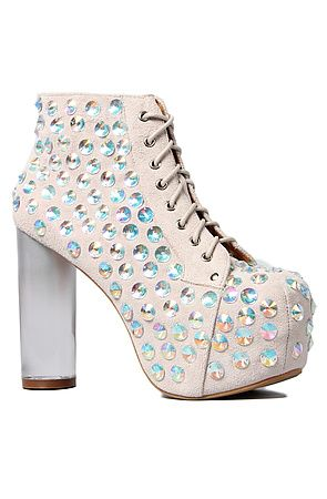 5050e4b0 The Lita Jewel in Ivory Suede and Clear by Jeffrey Campbell at  Karmaloop.com . Plus get 20% off your total purchase when you use the  RepCode: ZhanaSentMe