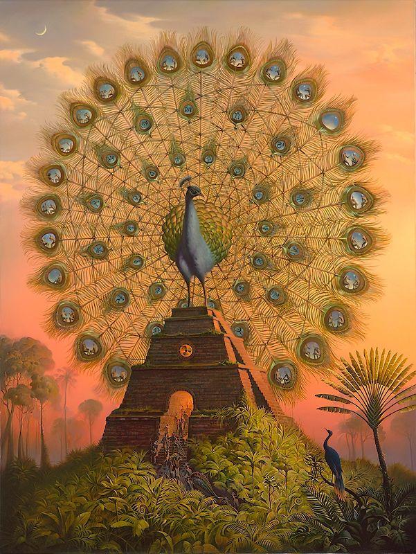 Sacred Bird of Yucatan Crazy Awesome Paintings by Vladimir Kush