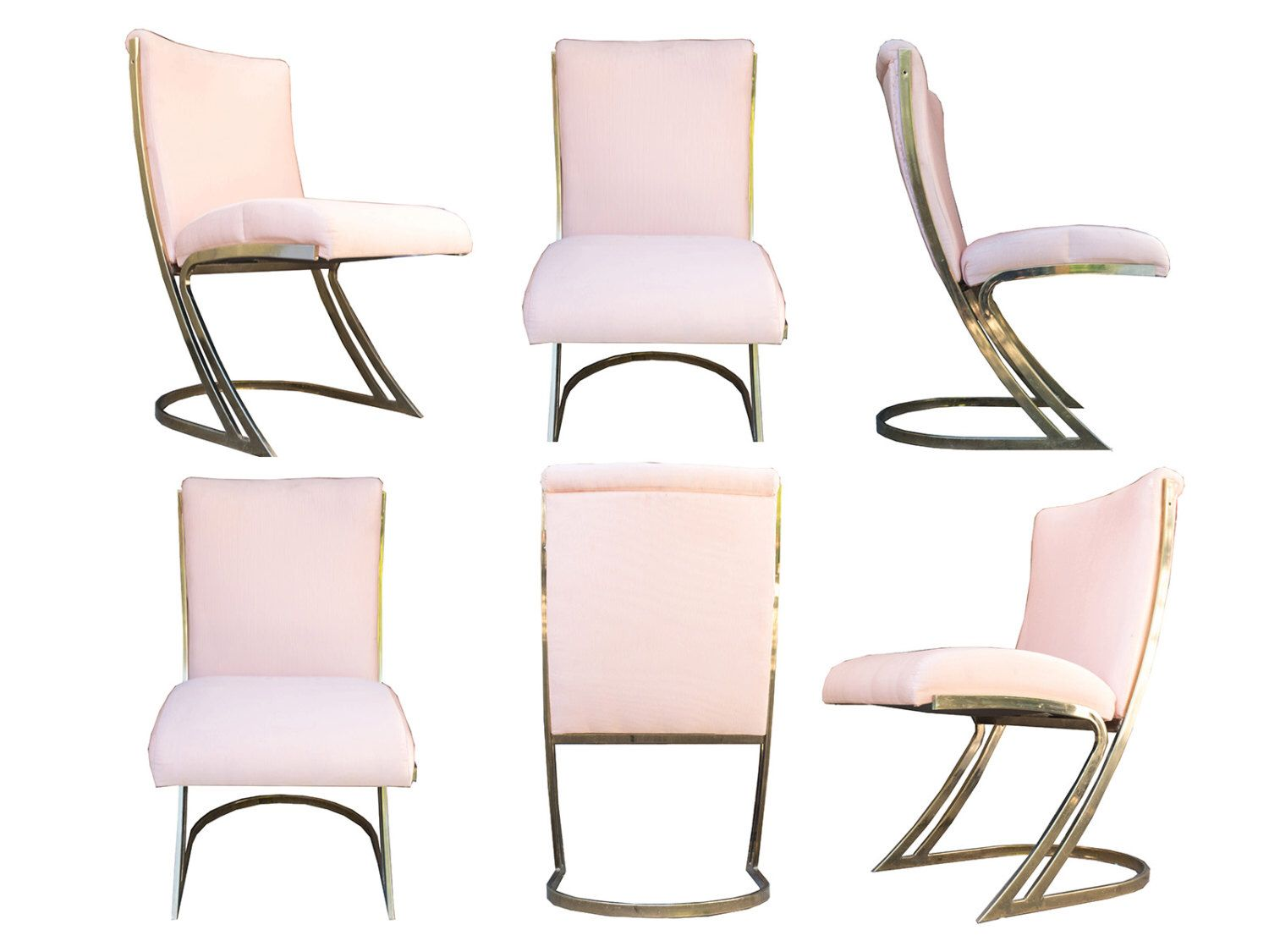 Sculptural Pierre Cardin Style Brass Z Chairs, S/6 by SUTTONCHAO on Etsy https://www.etsy.com/listing/269394894/sculptural-pierre-cardin-style-brass-z
