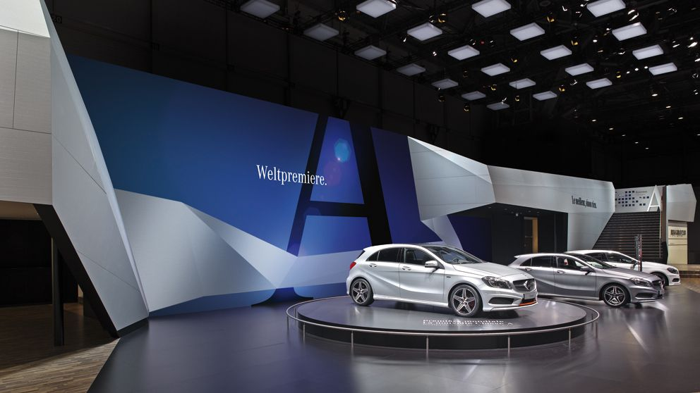 Exhibition Stand Car : Booth design mercedes exhibition pinterest