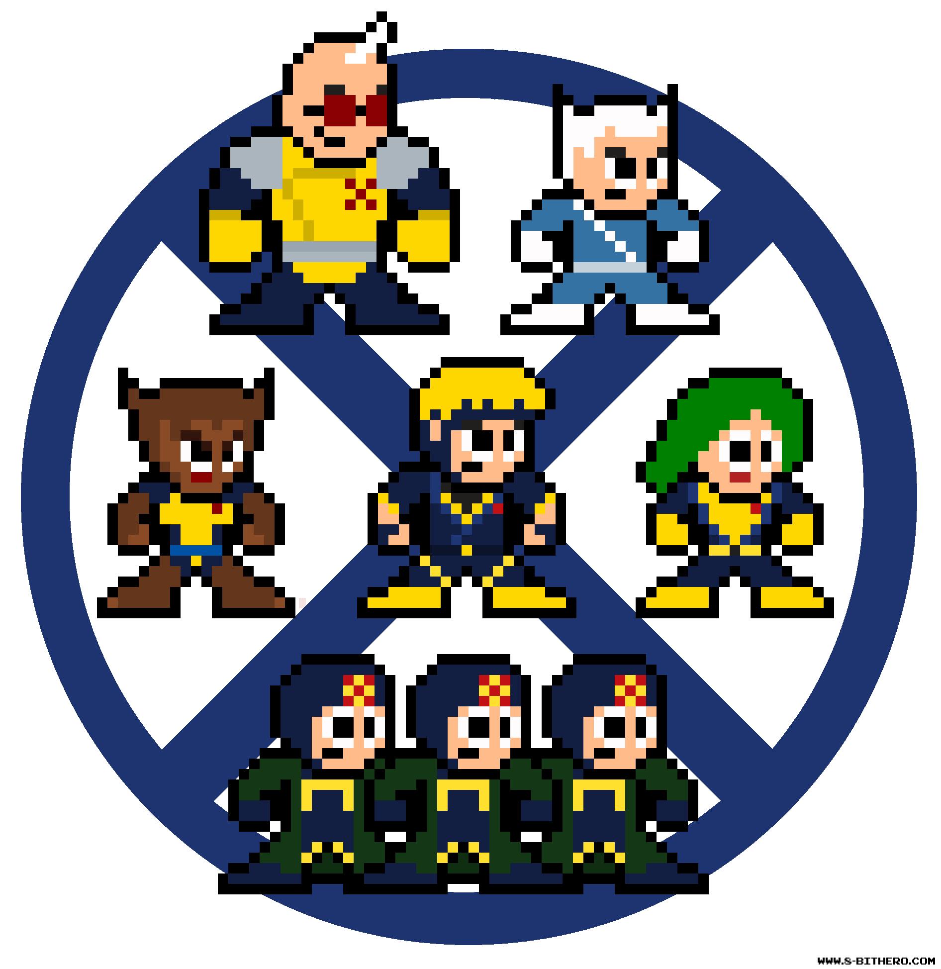 8-Bit 90s X-Factor Marvel Pixel Sprites | Pixelated Pop Culture ...