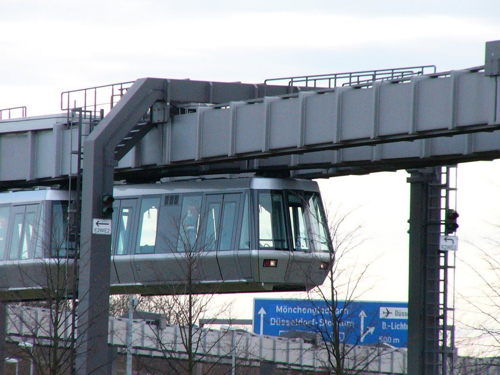 Google Maps Dusseldorf Sky train at Dusseldorf airport