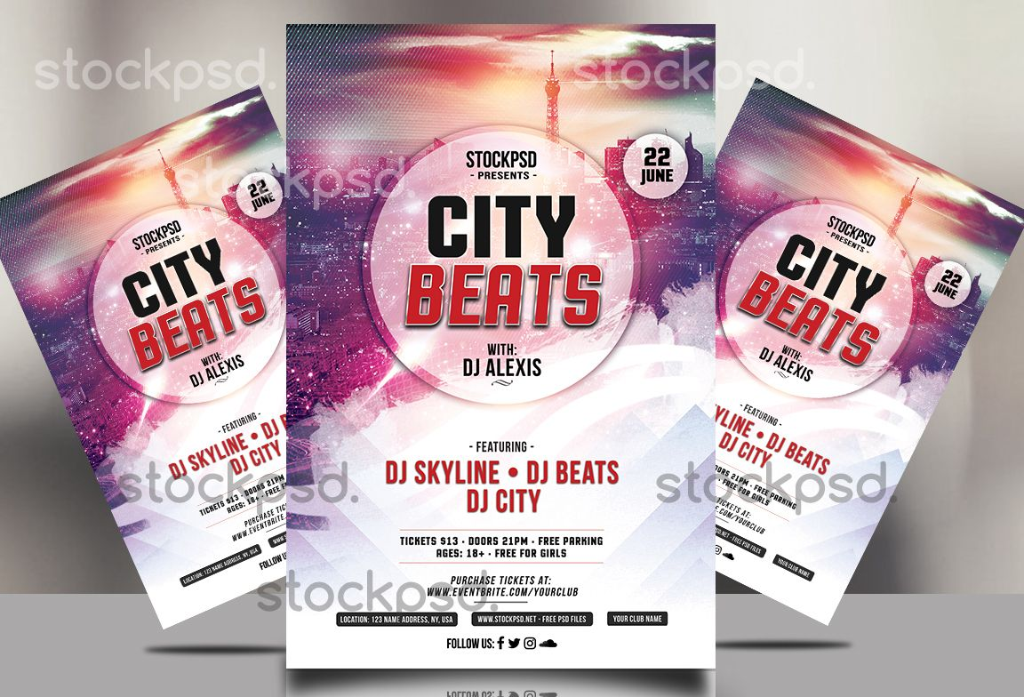 City Beats – Free PSD Flyer Template | Free Flyer Template