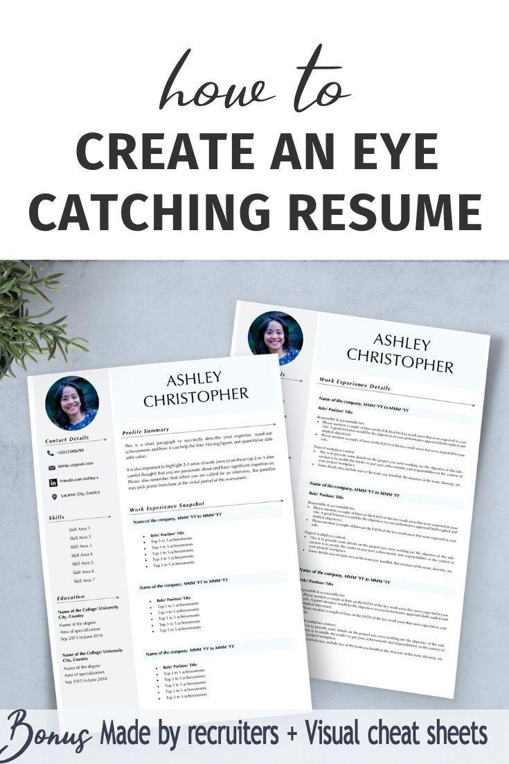 Cv elegant creative resume template one page cv template