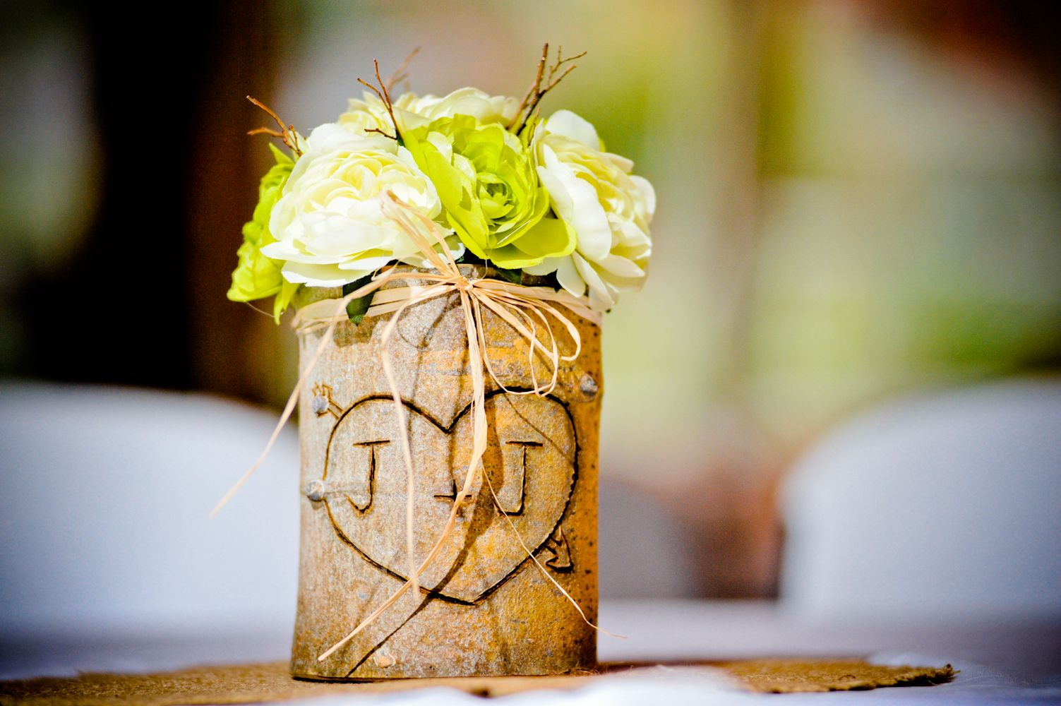 Log centerpiece wedding ideas pinterest