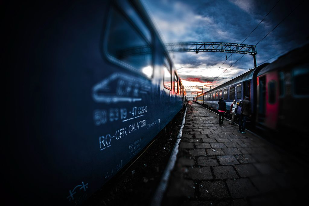 Between Trains, Artwork by Lucian Olteanu