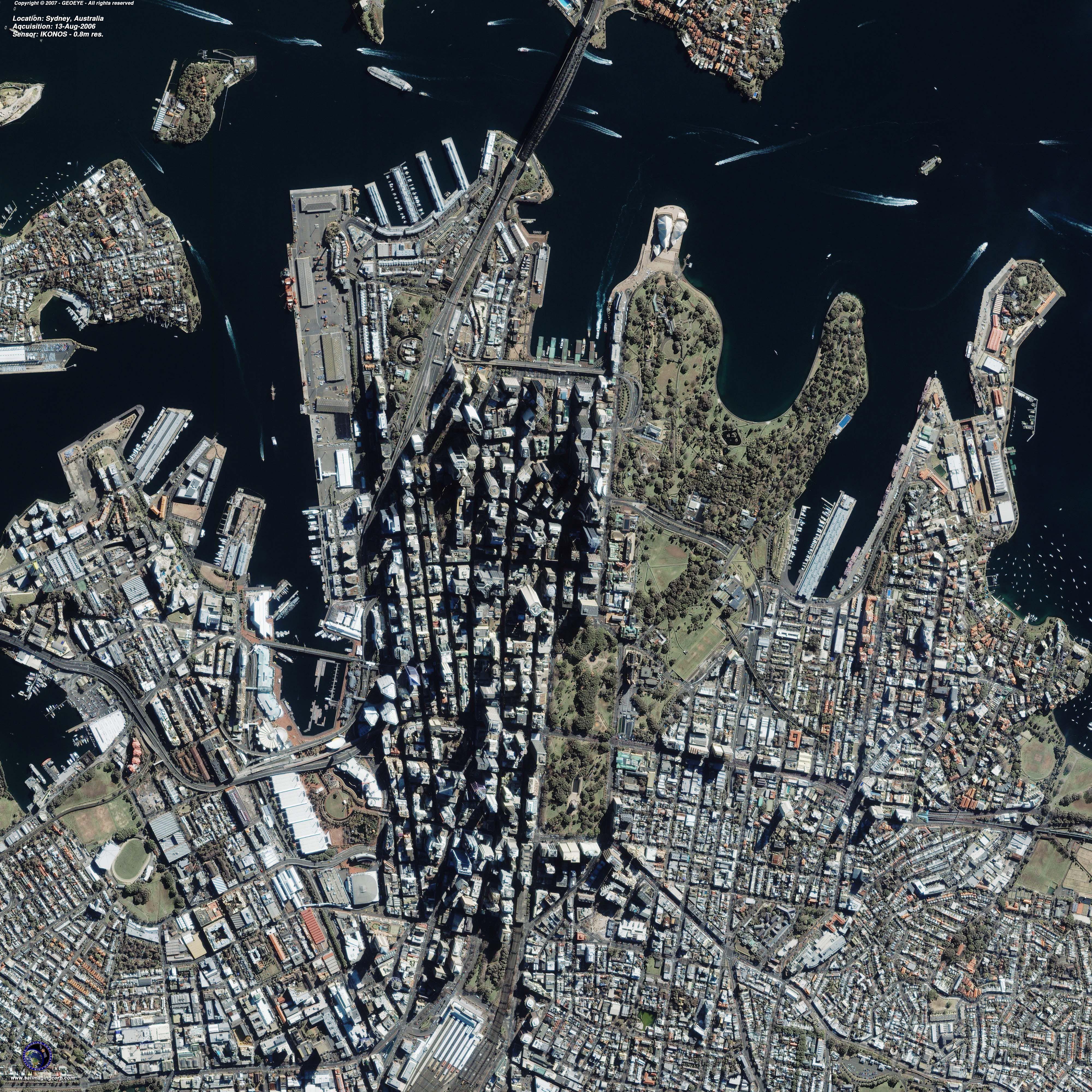 Satellite Image Of Sydney Australia Satellite Imaging Corp With Images Satellite Image Australia Image