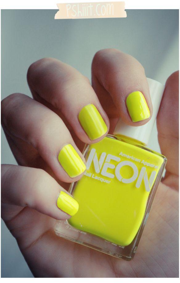 American Apparel – Neon Yellow / La tendance neon? Même pas peur ...