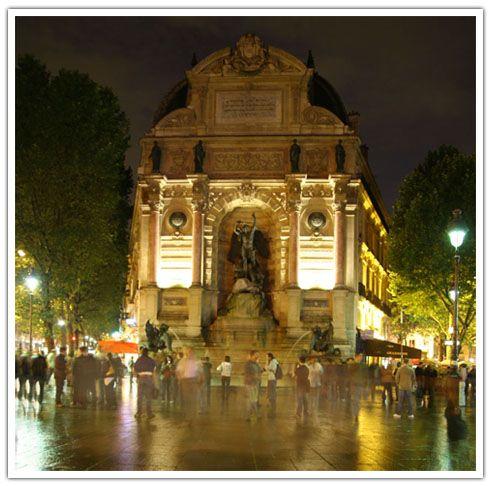 fontaine st michel #paris