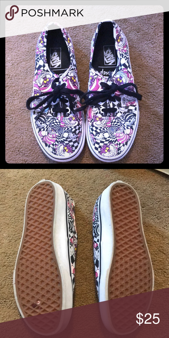 05fab30957 Limited edition Alice in Wonderland vans Gently used size 7 Vans Shoes  Sneakers