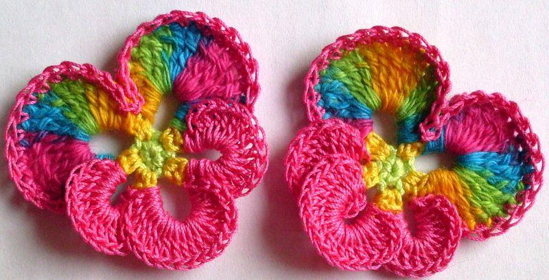 1+Blume+Stiefmütterchen+gehäkelt+pansy+crochet+ ...
