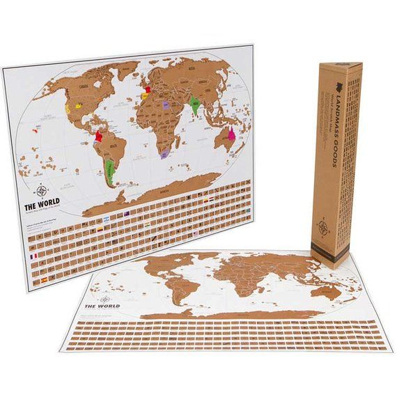 Scratch Off World Map Perfect Gift For Travel Lovers 17x24