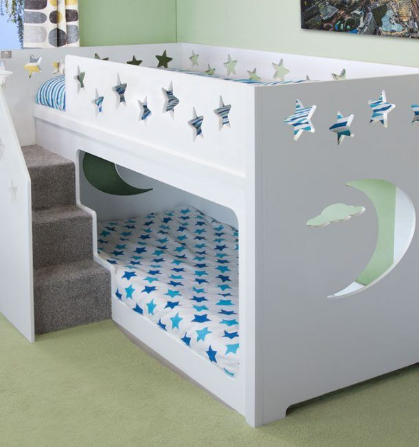 Deluxe Funtime Bunk Bed Stairs Front Shorty En 2020