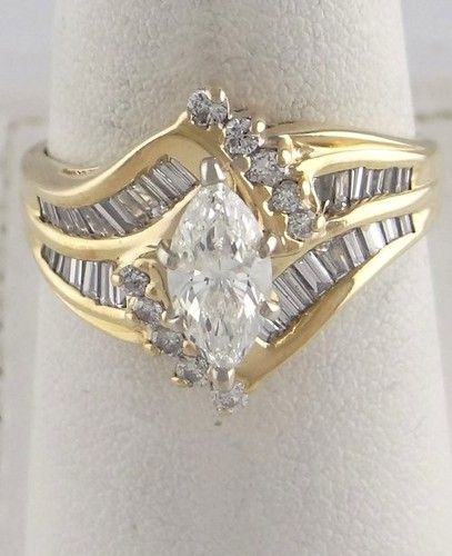 1 1 2ct Marquise Baguette Round Diamond High Engagement