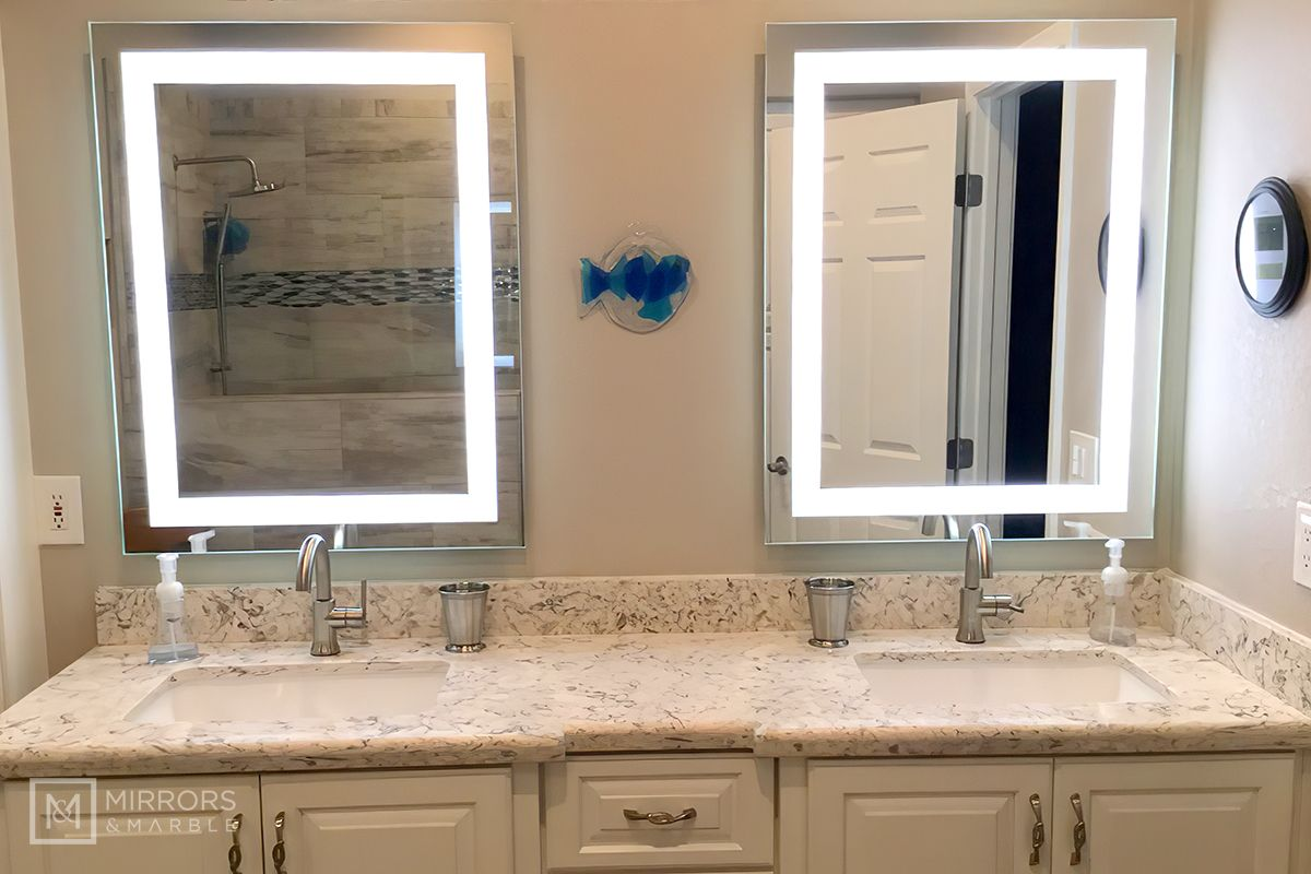Front Lighted Led Bathroom Vanity Mirror 28 Wide X 36 Tall Rectangular Wall Mounted Bathroom Vanity Mirror Lighted Vanity Mirror Vanity Mirror