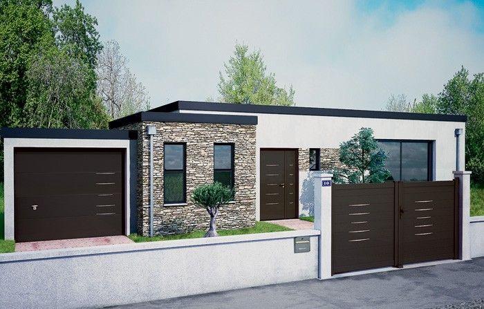 11 belm porte entree alu alinea noir 2100 sable 90 40 72 for Baguettes bois decoratives