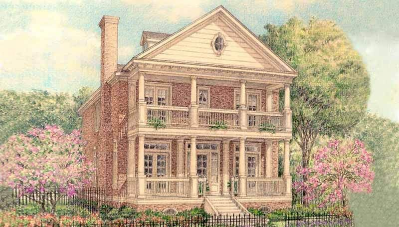 Two Story Colonial Home Plan D0012 Home Design Floor Plans House Plans New House Plans