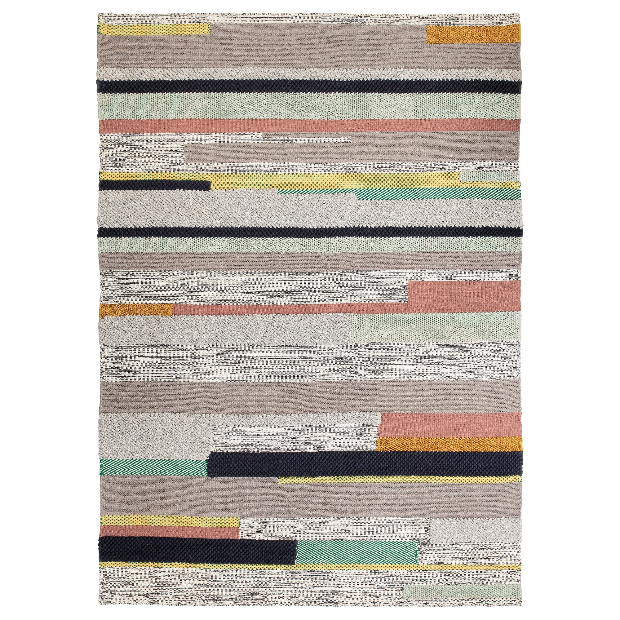 Bronden Rug Low Pile Handmade Multicolor Ikea Ikea Rug Medium Rugs Rugs