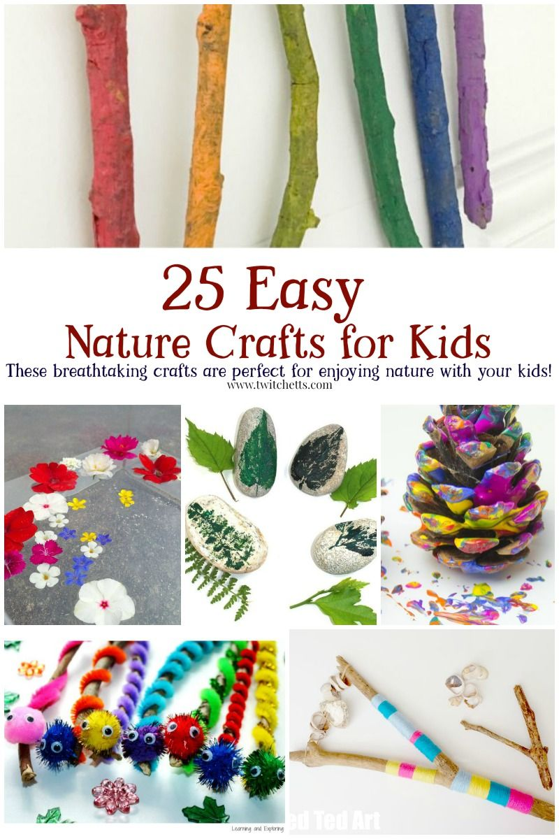 25 Easy Nature Crafts For Kids To Make This Summer Nature Crafts Kids Nature Crafts Crafts For Kids To Make