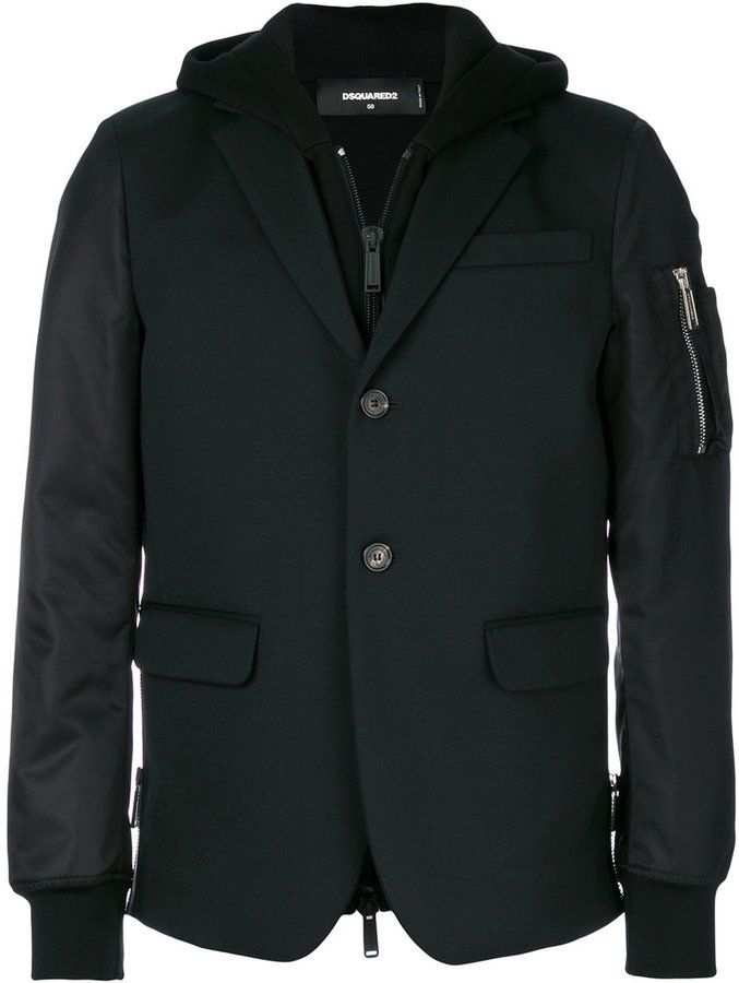 DSQUARED2 hoodie lined blazer