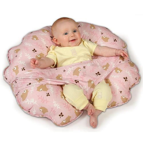 Cuddles Collection Twin Nursing Pillow Pink