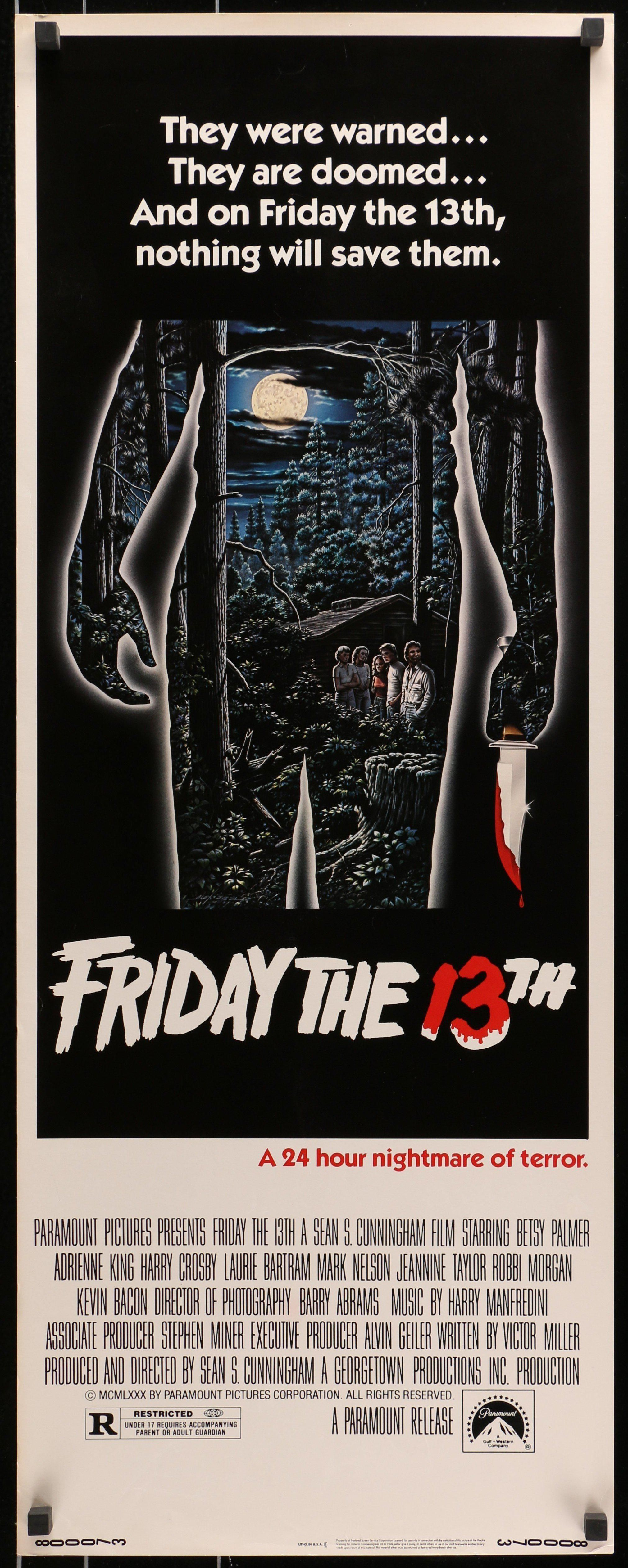 Friday The 13th 1980 Friday The 13th Movie Posters Vintage Movie Posters