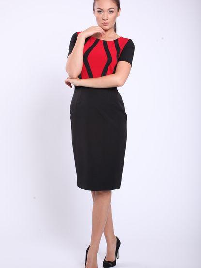ba172a7182f1 Dámske šaty STREET VOGUE - čierna-červená