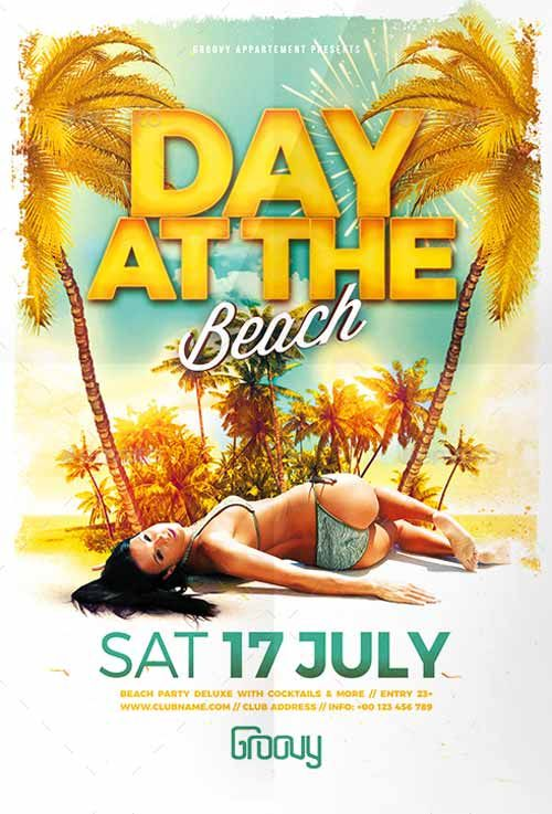 Day At The Beach Flyer Template  HttpFfflyerComDayAtThe