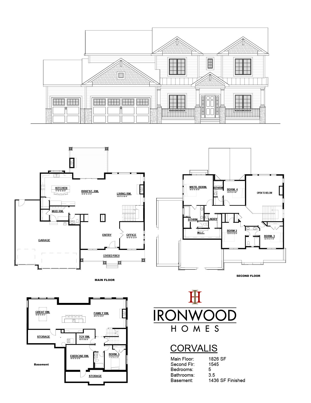 Corvalis Floor Plan Sheet House Plans Floor Plans House Blueprints