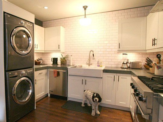 Inspiration: Washers & Dryers in the Kitchen | Washer, Dryer and ...