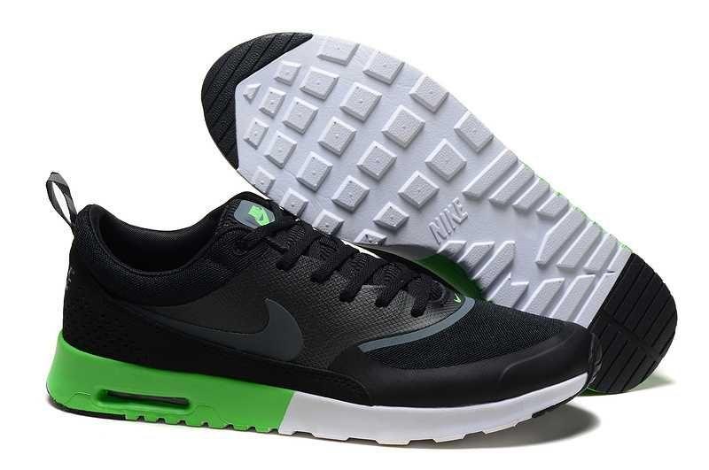 huge discount a21b2 66d33 1830   Nike Air Max Thea Billigt Herr Svart Grön SE965824XcuLawJi