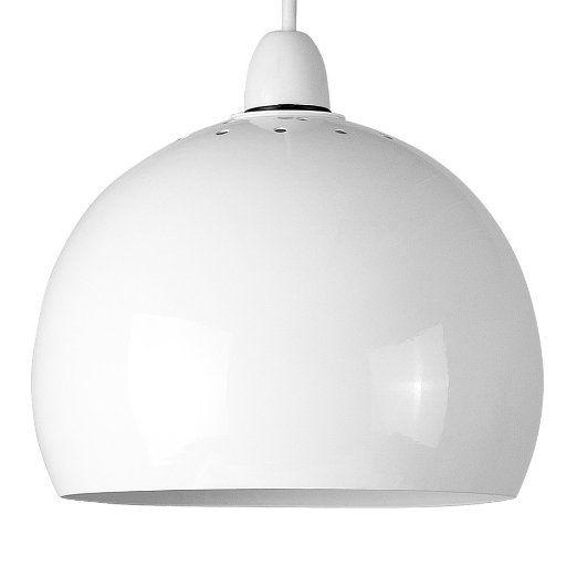 Minisun Modern Mini Retro Gloss Grey Metal Arco Style Dome Ceiling Pendant Light Shade Amazon Co Ceiling Pendant Pendant Light Shades Ceiling Pendant Lights