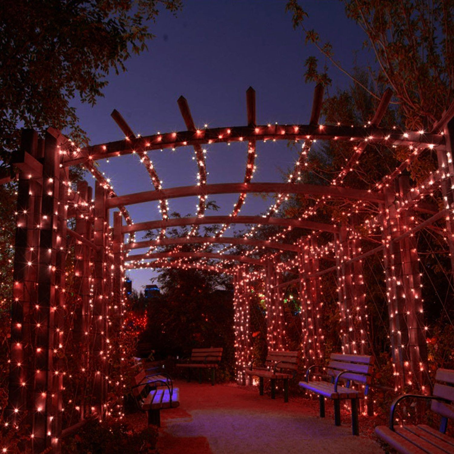 Usa Neon King Christmas Lights Indoor And Outdoor 33ft 120v Ul Certified 100 Led Tree Lights For Lawn Garden Home Pa Holiday Red Christmas Lights Tree Lighting