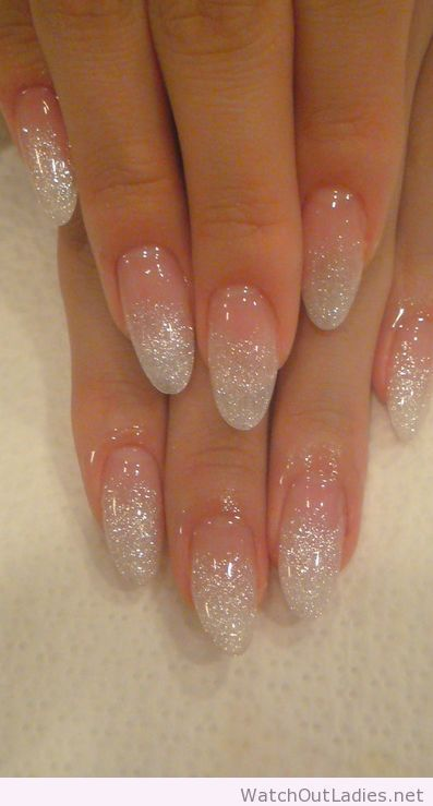 Holographic Glitter Fade Nail Art Watchoutladies Pinterest
