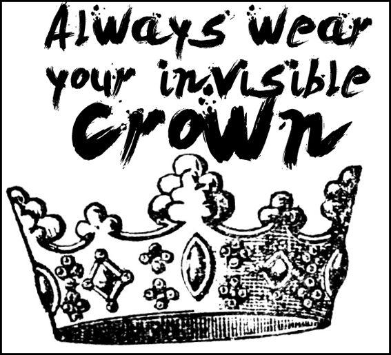 Quote, crown, fashion