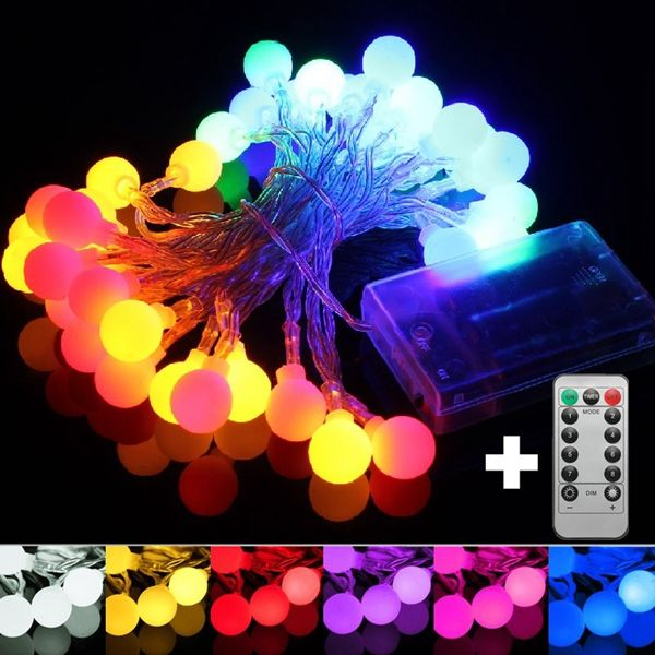 5M 50LED Remote Battery Globe Outdoor String Light for Christmas - outdoor christmas decorations wholesale