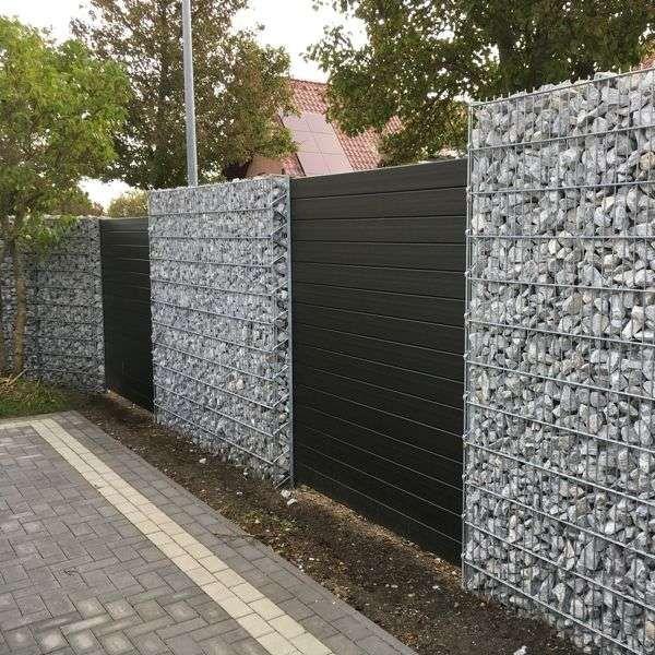Wpc Zaun Wpc Sichtschutz Gabionen Kaiser Fence Ideas In 2018