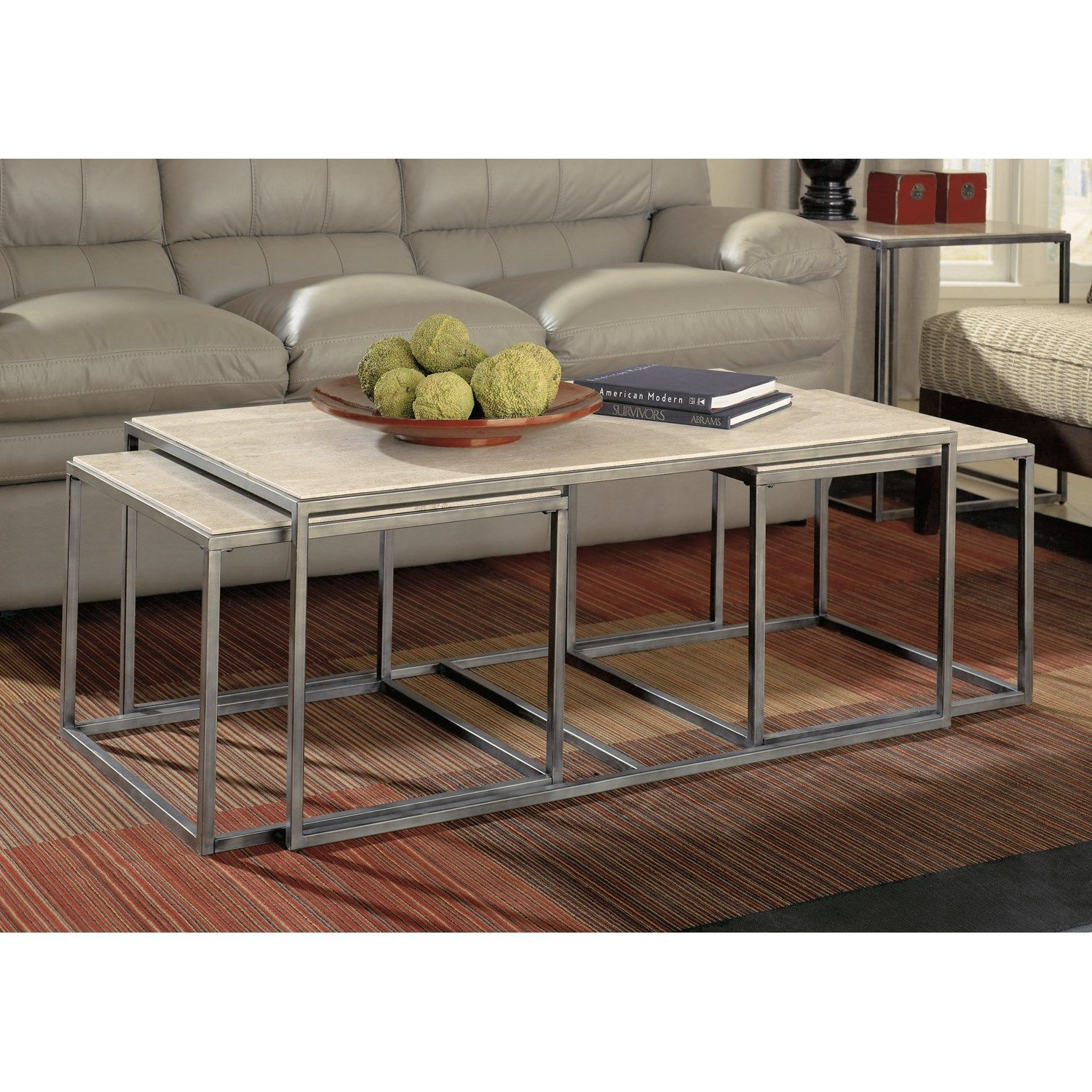 Hammary Furniture Modern Basics Bunching Table 190 910 The Simple Stores Nesting Coffee Tables 3 Piece Coffee Table Set Coffee Table Rectangle [ 1500 x 1500 Pixel ]