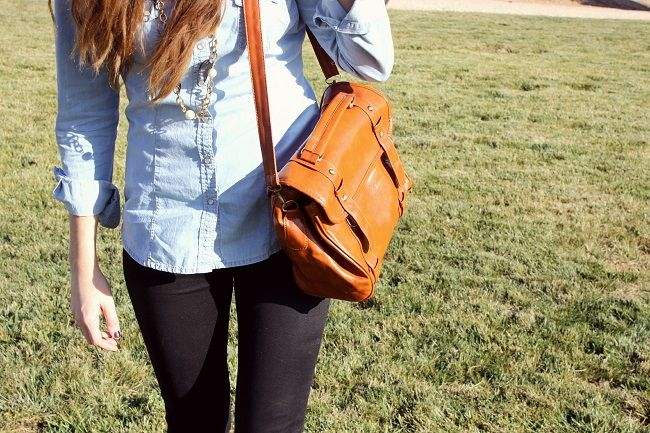 perfect fall outfit and bag