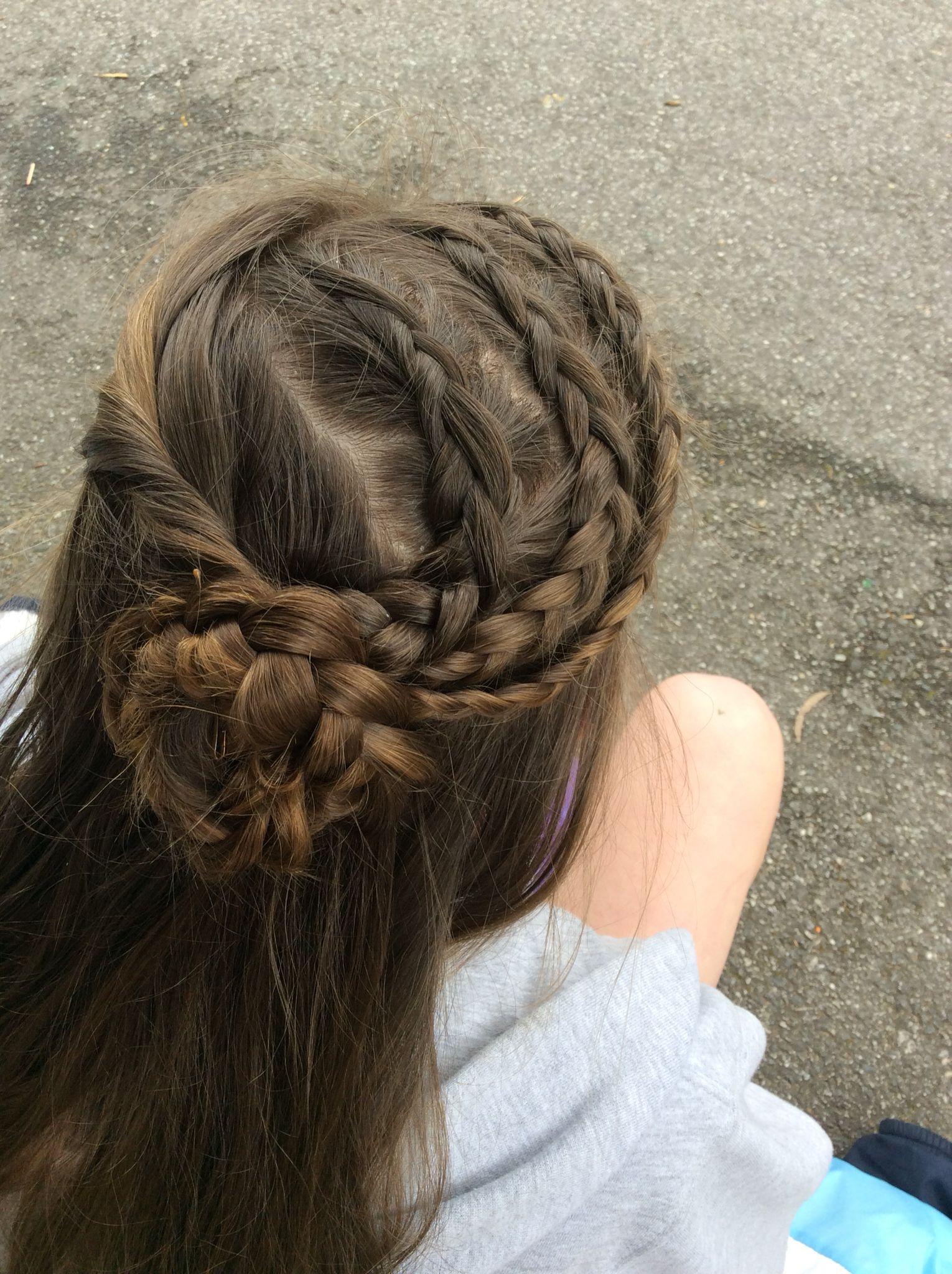 Triple braid rose #styledbyme Credits to #missysue | Hair styles, Braids, My hair