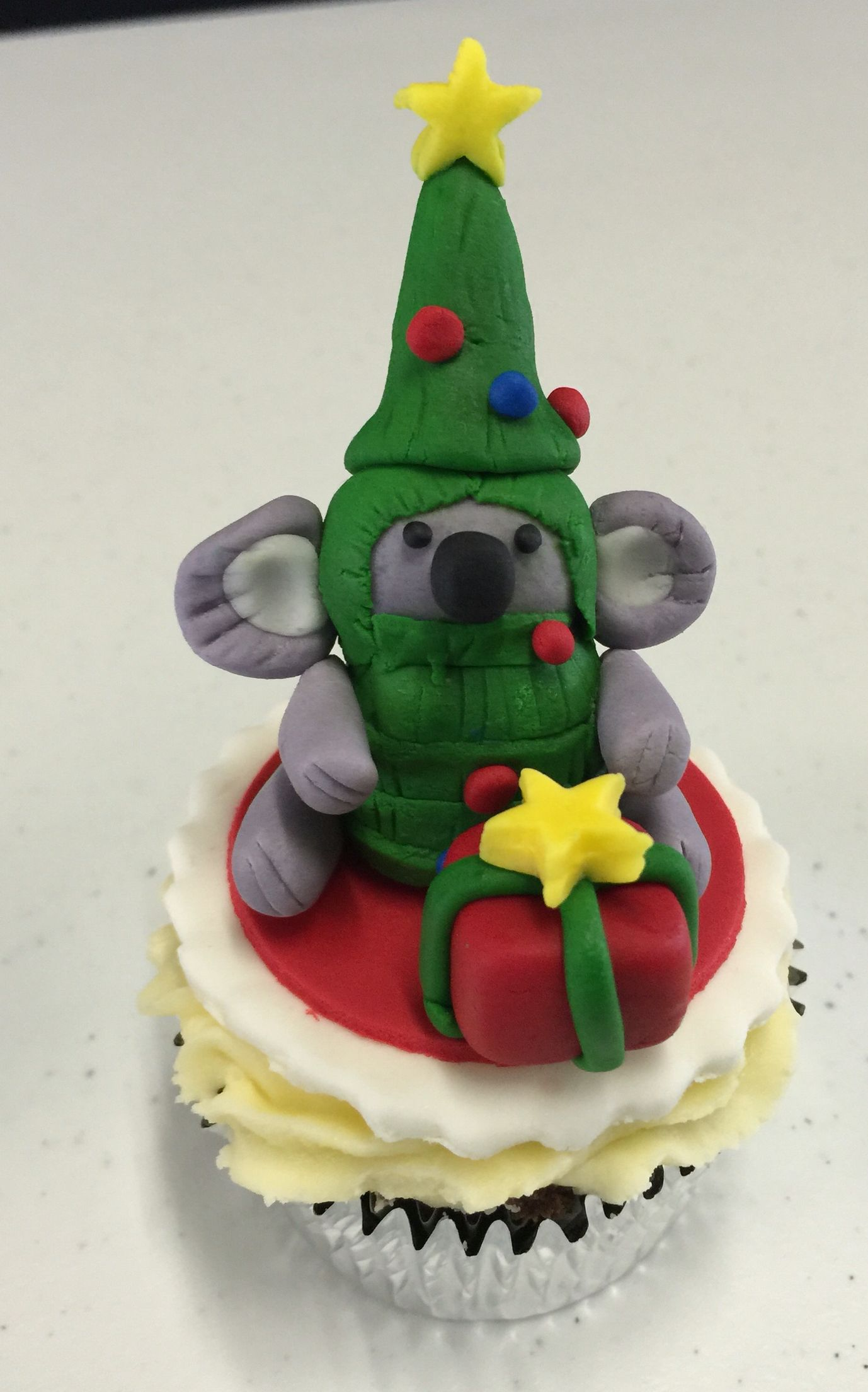 Koala Christmas Tree topper. Tree toppers, Cake