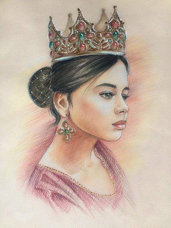 Custom Portrait Fantasy Drawing Colored Pencil Portrait colour