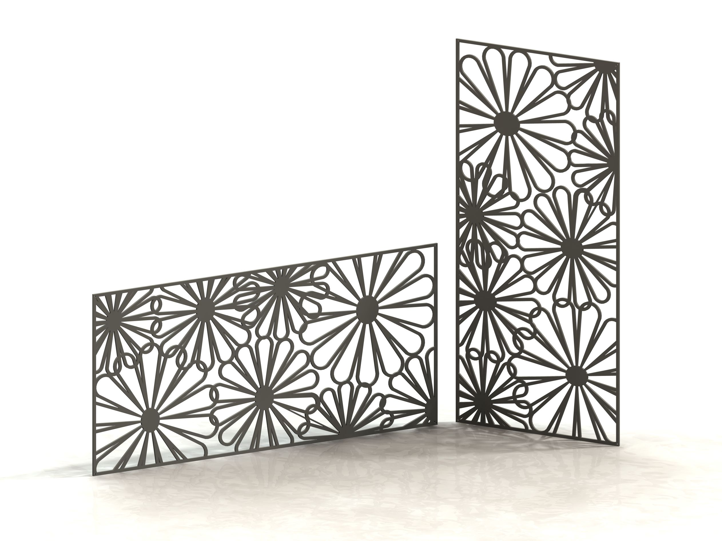 marguerites panneau d coratif m tal panneau design d coupe laser laser cut panels. Black Bedroom Furniture Sets. Home Design Ideas