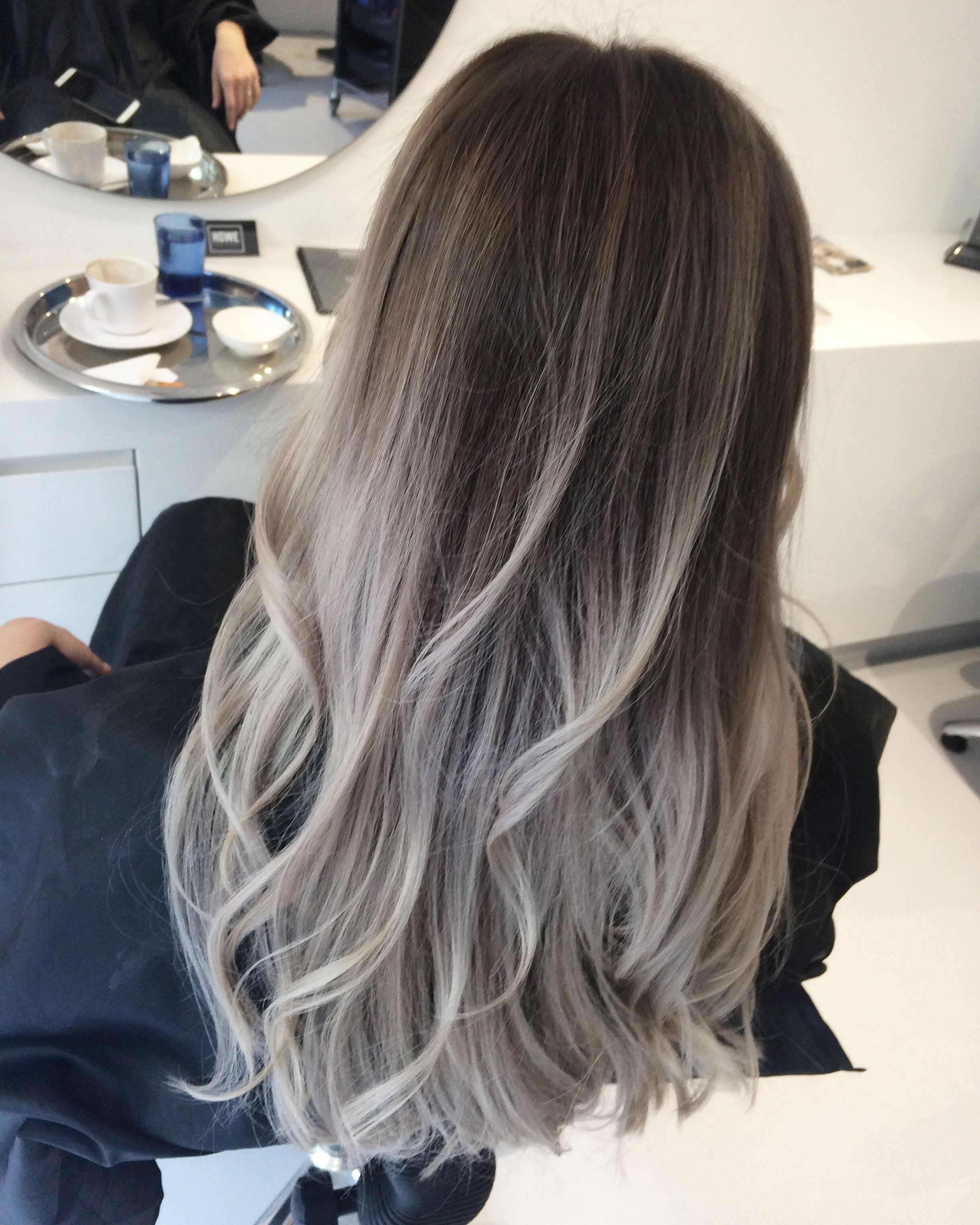 Balayage Grey Gray Grey Balayage Howehair Capetown Hairsalon Ladieshair Hair Hairstyles Hair Styles Grey Ombre Hair Brown Ombre Hair