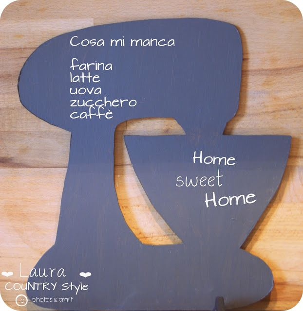 kitchenaid's blackboard hand made to order Laura countrystyle
