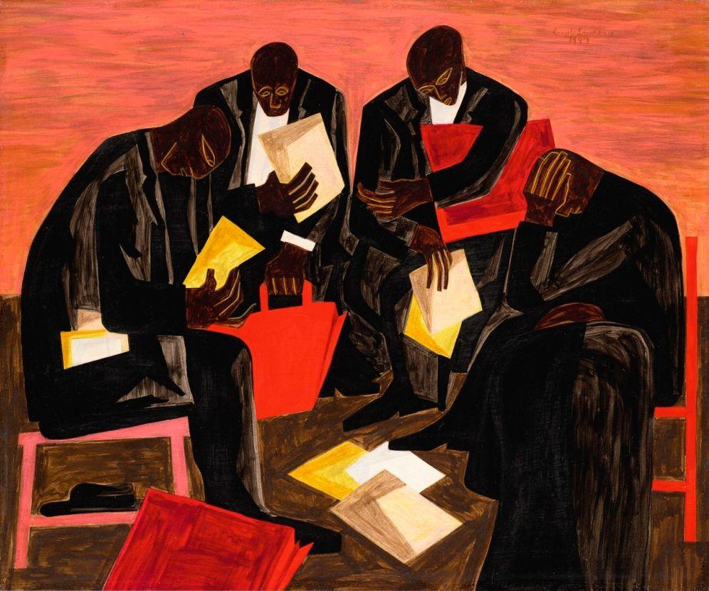 Jacob Lawrence The Businessmen 1947 Jacob Lawrence Art African American Art African American Artist