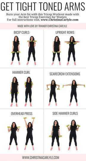 Arm Workout for Women that Want Tight Toned #fitness #workout