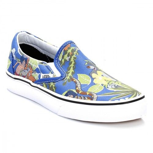 Buy blue classic blue the jungle book vans disney classic blue the jungle  book slip on trainers  Vans unisex trainers at TOWER London  mens
